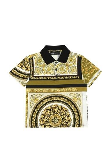 Versace Polo Yaka T-shirt Renkli